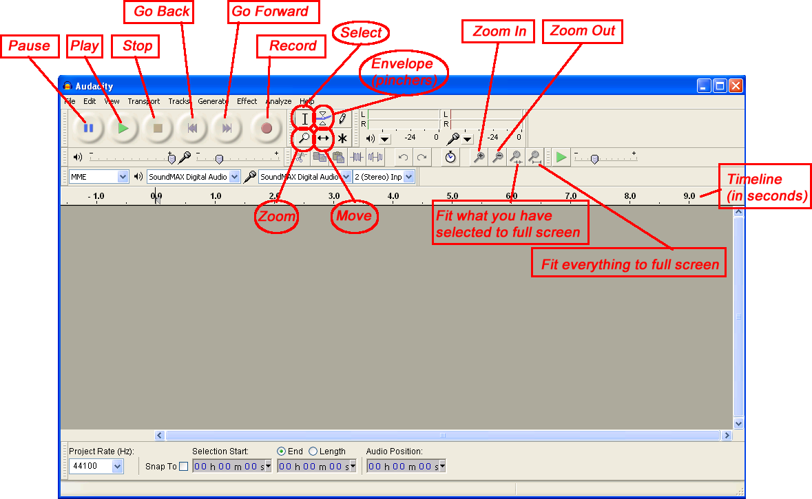 Using audacity to record without loss of signal | Freeware Tips